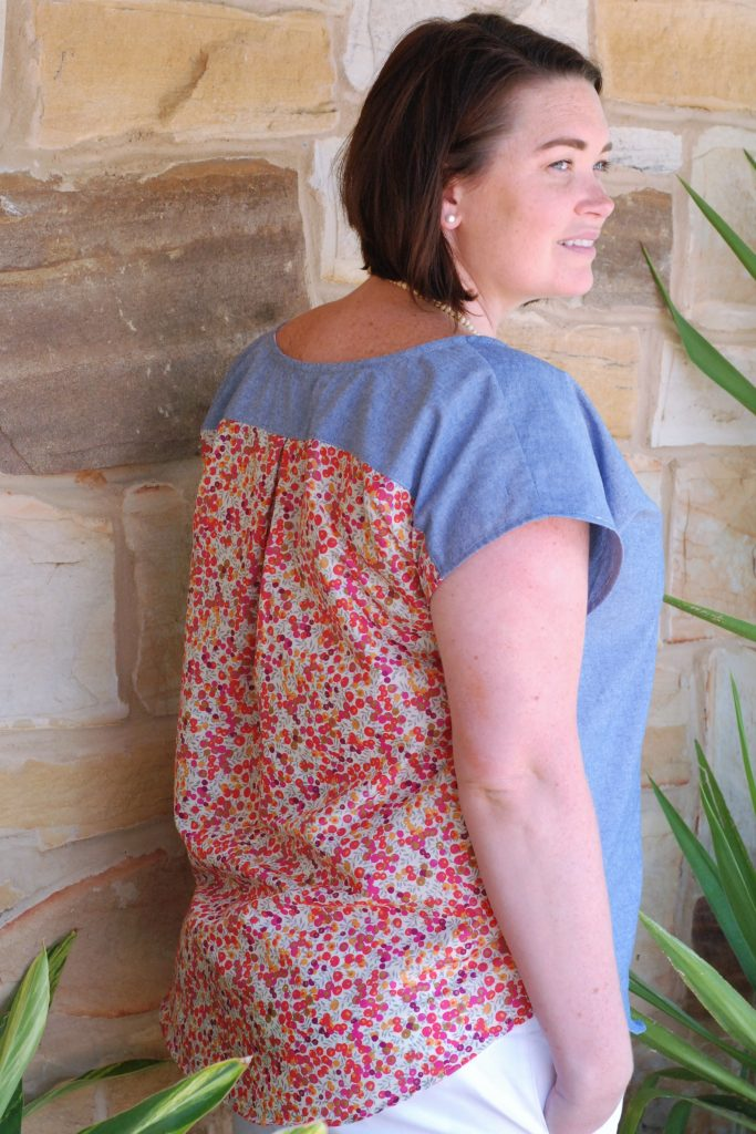 Bondi Top made by Keera Job Designs using Sew To Grow pattern