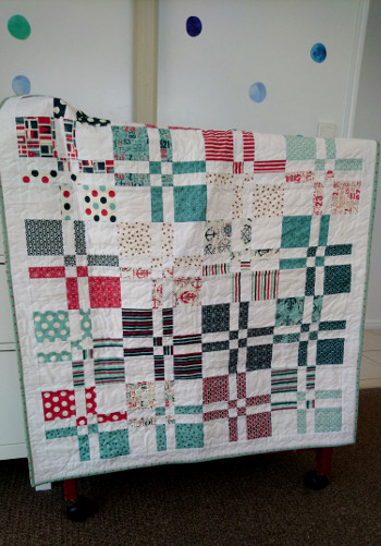 Close to full quilt shot over change table