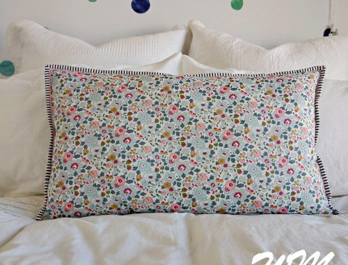 Betsy Cushion Front on Guest Bed
