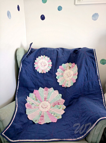Ballerina Quilt on Mint Chair