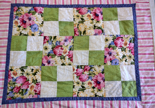 Full frame image of quilt top